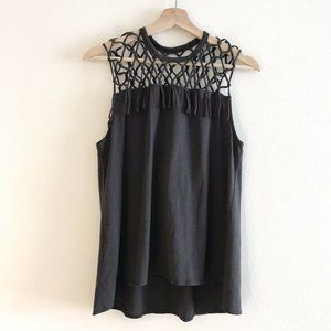 NWT Chaser Knotted Muscle Tank Vintage Black